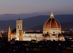 Florence Duomo as seen from Michelangelo hill.