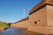 Fort Pulaski, in Chatham County