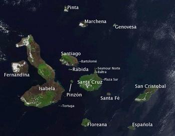 Карта островов архипелага