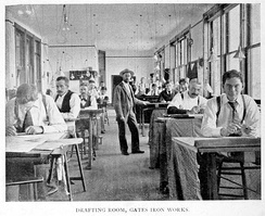 Gates Iron Works, Drafting Room, 1896