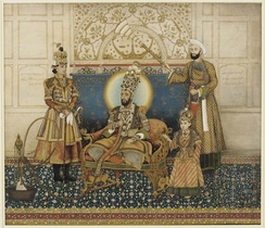 Bahadur Shah II enthroned
