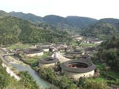 Hekeng village, in Shuyang Town, is one of the many tulou villages of Fujian's Nanjing County.