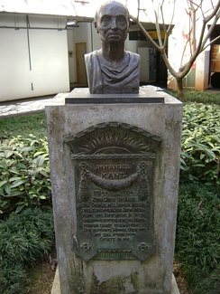 Kant statue in the School of Philosophy and Human Sciences (FAFICH) in the Federal University of Minas Gerais (UFMG), Belo Horizonte, Brazil