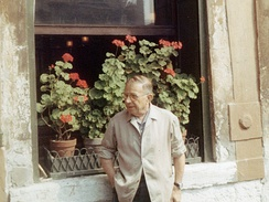 Jean-Paul Sartre in Venice in 1967