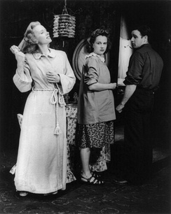 Jessica Tandy, Kim Hunter and Marlon Brando in the original Broadway production of A Streetcar Named Desire (1947)