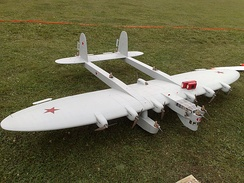 A detailed scale model of the K-7
