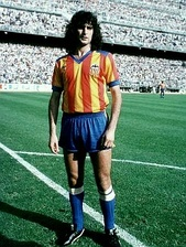 Mario Alberto Kempes for Valencia CF in 1979