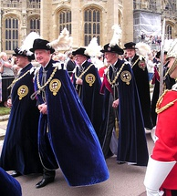 Knights Companion in the procession to St George's Chapel, Windsor Castle for the Garter Service