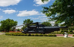 An MH-53M on display at Maxwell AFB
