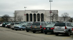 Exterior of a typical ex-Marshall Field's suburban Macy's store at Westfield Hawthorn in Vernon Hills, Illinois