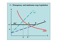 Modern economics suggests that a moderate minimum wage may increase employment as labor markets are monopsonistic and workers lack bargaining power.