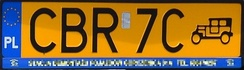 Polish classic car's plate (since May 1, 2006)