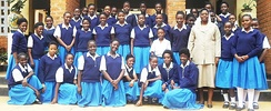 Pupils at the St Monicas Girls Secondary School in Chipata, Eastern Province