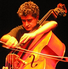 French double-bass player and composer Renaud Garcia-Fons during a performance