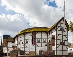 Shakespeare's Globe is a modern reconstruction of the Globe Theatre on the south bank of the River Thames