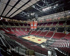 Inside of Moda Center (then called the Rose Garden), circa 2001