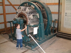 Railroad rotary converter at Illinois Railway Museum