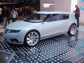 The Saab 9-X Biohybrid Concept Vehicle at the 2008 Geneva Motor Show