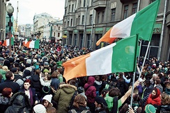 Moscow hosts an annual Saint Patrick's Day festival.