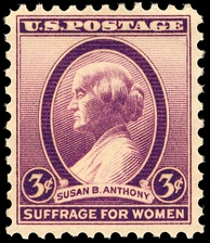 Commemorative stamp of Susan B. Anthony issued in 1936.[207]
