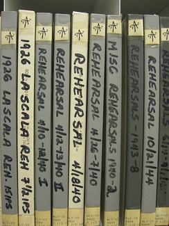 A few of the hundreds of hours of rehearsal tapes featuring Toscanini, residing in the Rodgers and Hammerstein Archive of Recorded Sound, a division of the New York Public Library for the Performing Arts