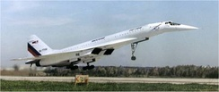 The Tupolev Tu-144 was the first SST to enter service and the first to leave it. Only 55 passenger flights were carried out before service ended due to safety concerns. A small number of cargo and test flights were also carried out after its retirement.