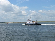 A tugboat in Norfolk