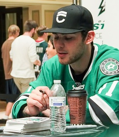 Dallas Stars player Tyler Seguin signing autographs at Galleria Dallas in 2014