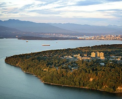 Aerial view of the Vancouver Campus