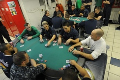 Play proceeds to the left of the dealer