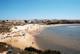 A beach in Vila Nova de Milfontes, part of the largest municipality of Portugal in area: Odemira.