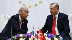 Vice President Joe Biden meets with Turkish President Erdoğan on 24 August 2016