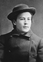 Young Chekhov in 1882