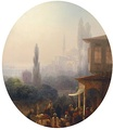 A market scene in Constantinople by Ivan Aivazovsky, 1860