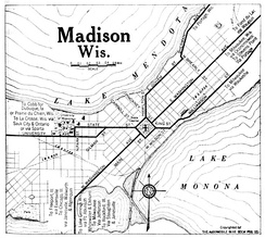 Map of Madison in 1920