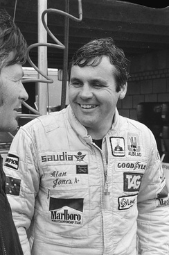 Australian Alan Jones (pictured in 1980) finished third in the Drivers' Championship, driving for Williams.