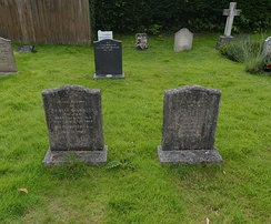 The graves of Alec and Merula in Petersfield, Hampshire