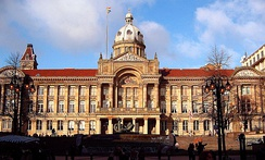 Birmingham was the first English town without an Anglican cathedral to be granted city status. Birmingham City Council meets at the Council House.