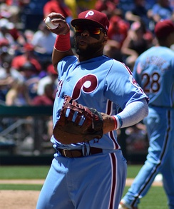 Santana with the Phillies in 2018