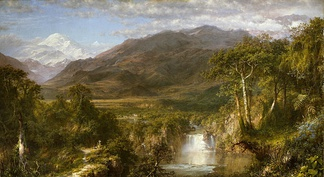 Frederic Edwin Church, The Heart of the Andes, 1859. Church was part of the American Hudson River School.