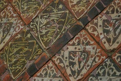 Expensive heraldic tiles demonstrate rising living standards at Cleeve in the latter part of the Middle Ages.