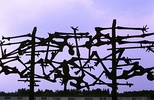 Dachau concentration camp memorial sculpture erected in 1968