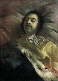 Peter the Great on his deathbed, by Nikitin