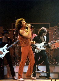 Deep Purple at the Cow Palace, San Francisco, 1985. Pictured: Glover, Gillan, Paice and Blackmore