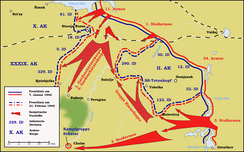Offensive of the Red Army south of Lake Ilmen, 7 January – 21 February 1942, creating the Demyansk Pocket