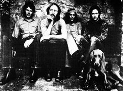 Clapton (right) with Derek and the Dominos