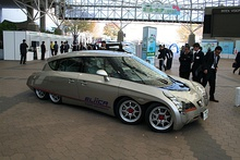 Eliica, the eight-wheeled electric car of Hiroshi Shimizu.