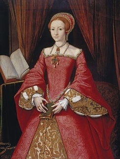 A rare portrait of Elizabeth prior to her accession, attributed to William Scrots. It was painted for her father in c. 1546.