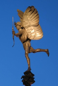 The statue of Anteros in Piccadilly Circus, London, was made in 1893 and is one of the first statues cast in aluminium.