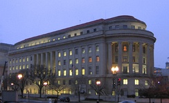 "American administrative law often involves the regulatory activities of so-called ""independent agencies"", such as the Federal Trade Commission, whose headquarters is shown above."